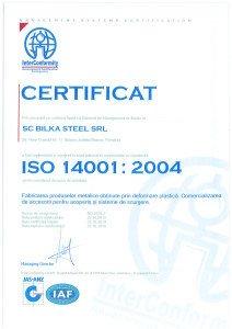 Bilka certificate ISO